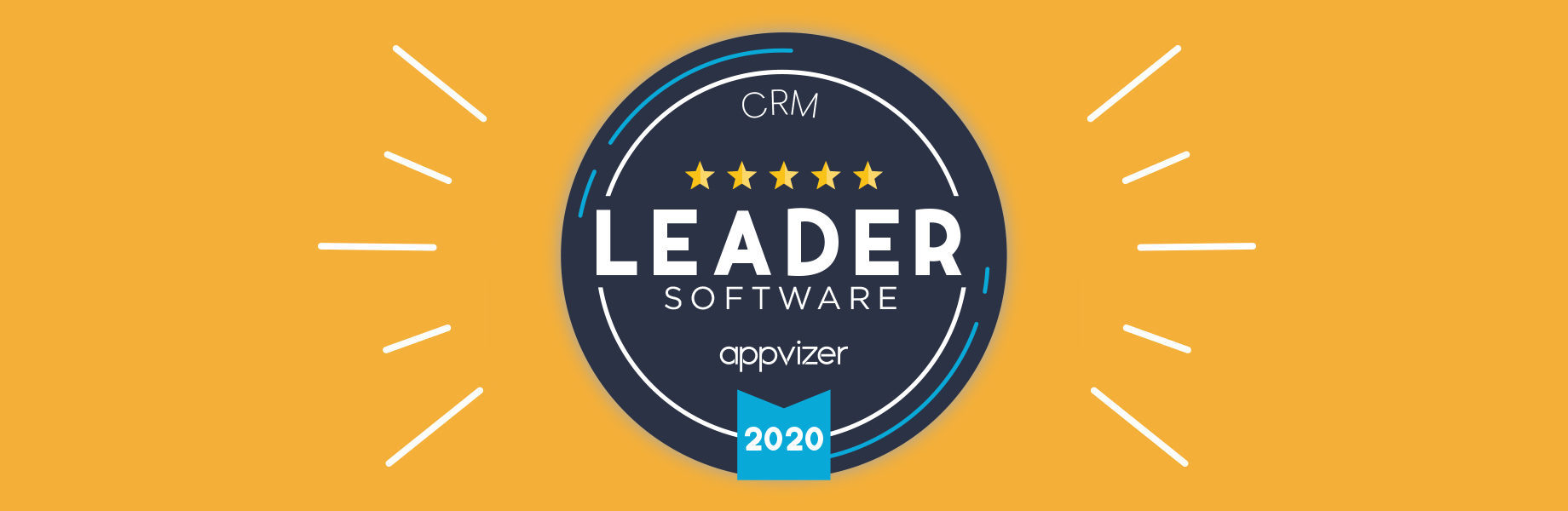 Why is a Leader appvizer badge assigned to a software?