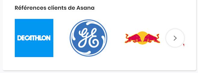 Références clients Asana