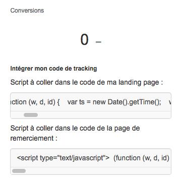 Script de tracking appvizer