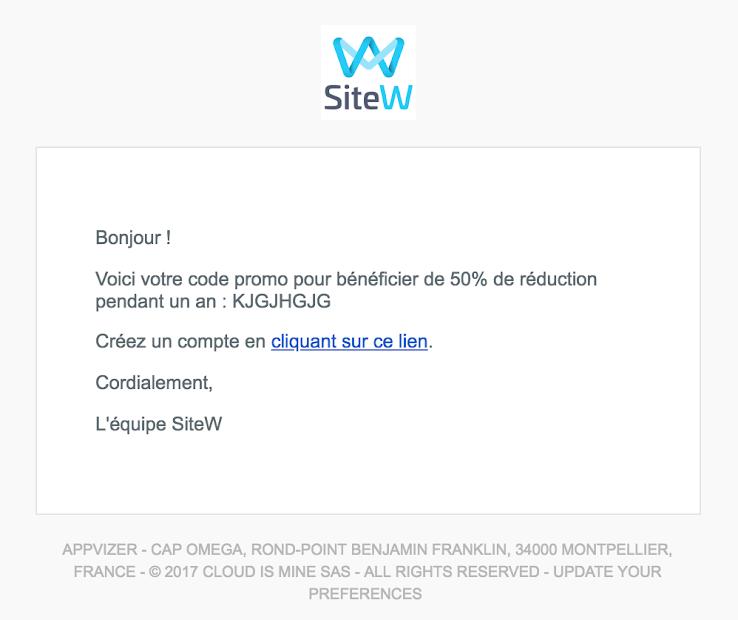 Notification personnalisée